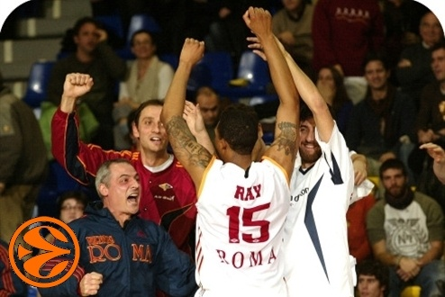 Lottomatica Roma celebrates in Barcelona