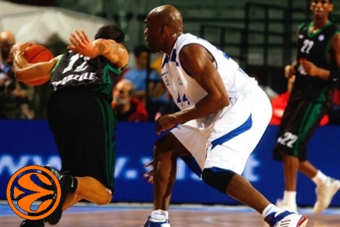 David Logan and Henry Domercant - PGE Turow - Dynamo Moscow - Final Eight Turin 2008