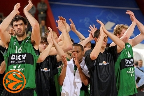 Joventut celebrates - DKV Joventut - Final Eight Turin 2008