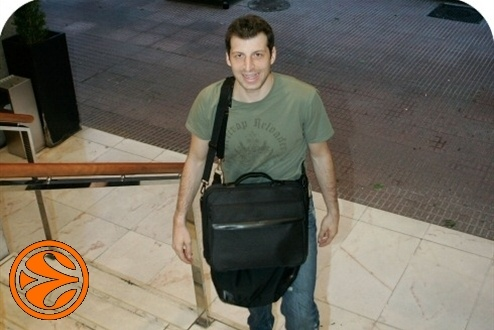 Theo Papaloukas - CSKA Moscow arrival Madrid - Final Four Madrid 2008