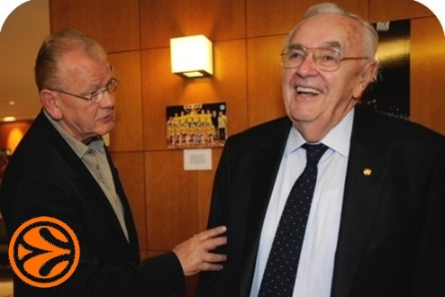 Dusan Ivkovic and Boris Stankovic - 50 years legends in Madrid - Final Four Madrid 2008