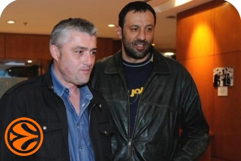 Pedrag Danilovic and Vlade Divac - 50 years legends in Madrid - Final Four Madrid 2008