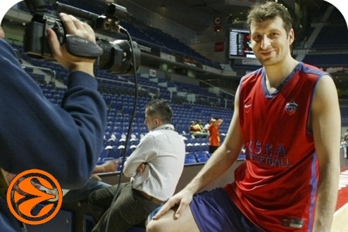 Theo Papaloukas - CSKA Moscow practices - Final Four Madrid 2008