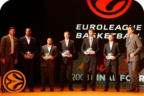 All-Euroleague First Team - Awards Ceremony - Final Four Madrid 2008