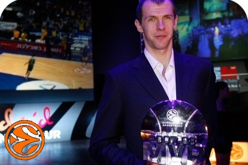 Ramunas Siskauskas, MVP for the season - Awards Ceremony - Final Four Madrid 2008