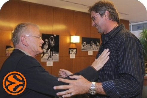 Dusan Ivkovic and Toni Kukoc - 50 years legends in Madrid - Final Four Madrid 2008