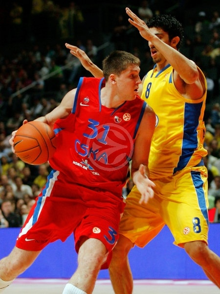 Victor Khryapa - CSKA Moscow - Final, Maccabi Elite vs. CSKA Moscow - Final Four 2008