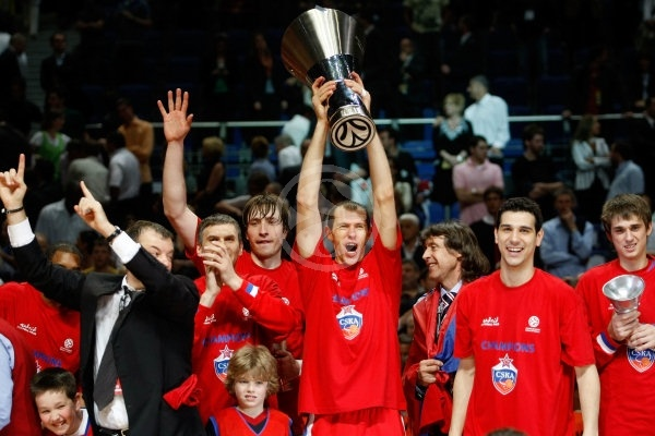 Ramunas Siskauskas - CSKA Moscow, EB Champion 2007-08 - Final Four Madrid 2008