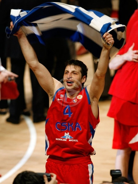 Theo Papaloukas - CSKA Moscow, EB Champion 2007-08 - Final Four Madrid 2008