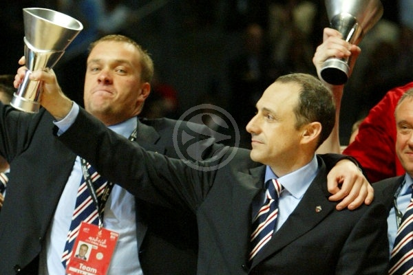 Ettore Messina - CSKA Moscow, EB Champion 2007-08 - Final Four Madrid 2008