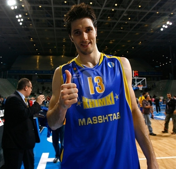 Mike Wilkinson celebrates - BC Khimki - Final Eight Turin 2009