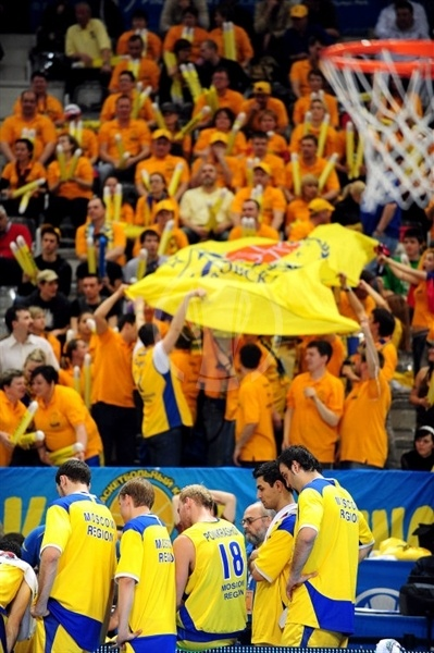 BC Khimki fans in Turin - Final Eight Turin 2009