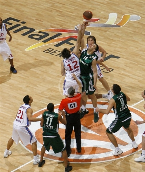 Tip-Off Panathinaikos vs. CSKA Moscow - Final Four Berlin 2009