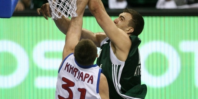 Panathinaikos-CSKA title-game records in a Final Four (1988-2009)