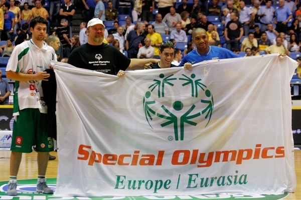 Special Olympics Ceremony during the Euroleague Basketball 2009-2010 Opening Game at Nokia Arena