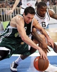 Dimitris Diamantidis - Panathinaikos and Bo McCalebb - Partizan
