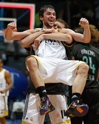 Sergio Llull celebrates - Real Madrid
