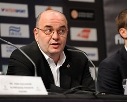 Dusko Vujosevic and Dusan Kecman - Partizan, Opening Press Conference, Final Four Paris 2010