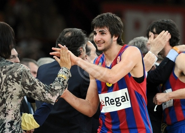 Ricky Rubio celebrates - Regal FC Barcelona - Final Four Paris 2010