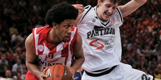 Olympiacos survives Partizan in OT