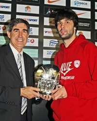 Milos Teodosic, MVP Euroleague 2010 awards - Olympiacos - Final Four Paris 2010
