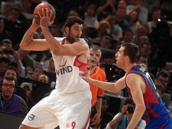Ioannis Bourousis - Olympiacos - Final Four Paris 2010
