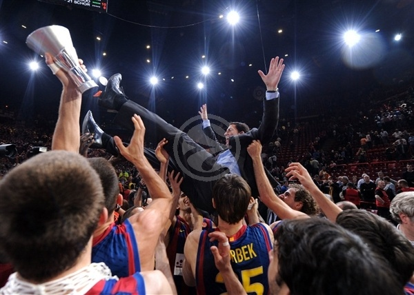 Xavi Pascual - Regal FC Barcelona Champ Euroleague 2010 - Final Four Paris 2010