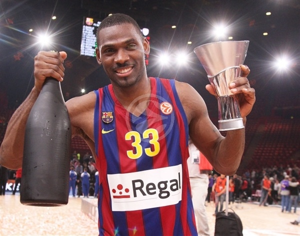 Pete Mickeal celebrates - Regal FC Barcelona Champ Euroleague 2010 - Final Four Paris 2010