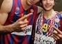 Jordi Trias and Ricky Rubio - Regal FC Barcelona Champ - Final Four Paris 2010