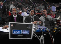 Skai TV Greece at Final Four in Paris