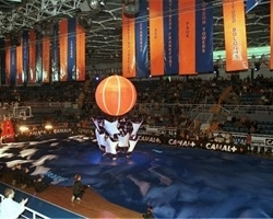 Open ceremony, Real Madrid vs. Olympiacos in 2000