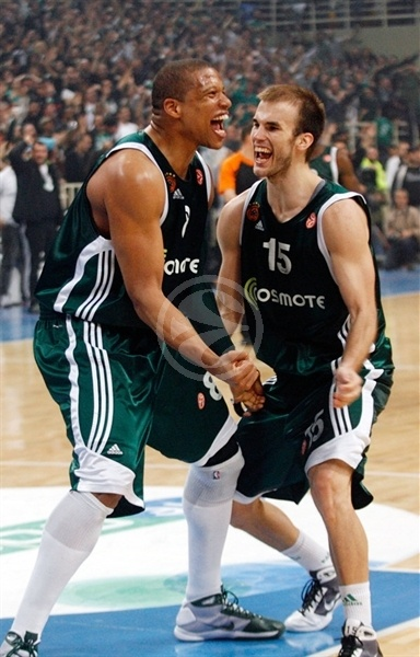 Batiste and Calathes celebrates - Panathinaikos