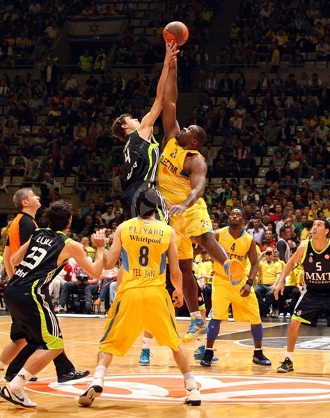 Tip-off between Maccabi Electra and Real Madrid
