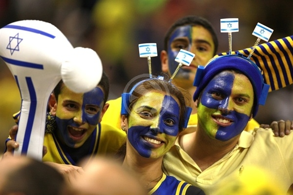 Maccabi Electra fans - Final Four Barcelona 2011