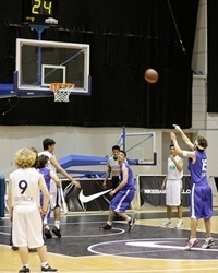 Special Olympics also played at Palau Sant Jordi courts