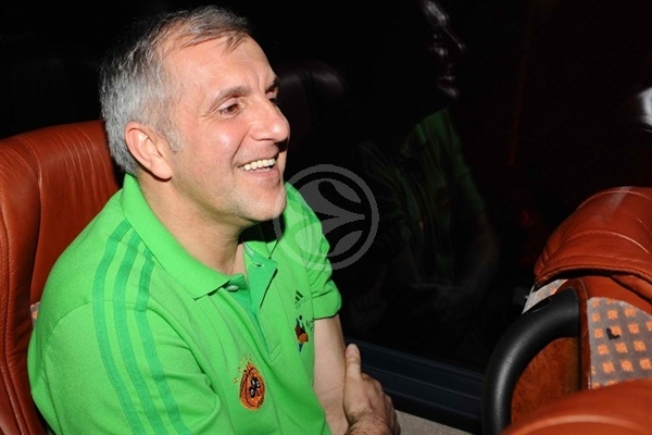 Zeljko Obradovic - Panathinaikos arrival Athens - Final Four Barcellona 2011 (photo V.Stolis - Panathinaikos)