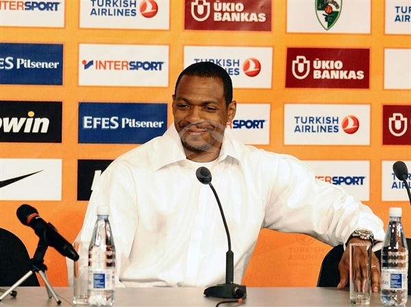 Marcus Brown at Open Game Press Conference at Zalgirio Arena