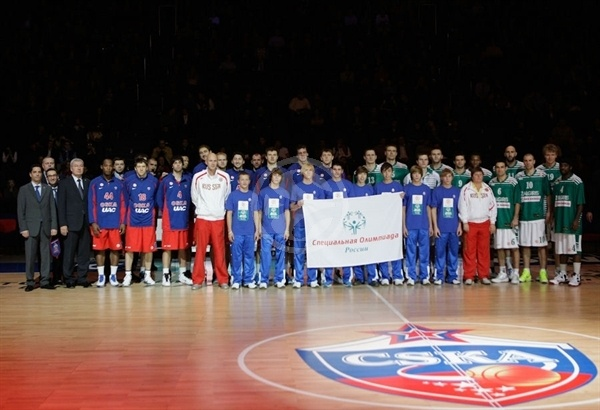 Teams CSKA Moscow and Zalgiris Kaunas with Special Olympics in Moscow