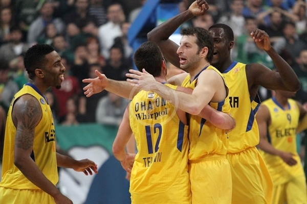 Players Maccabi Electra celebrates