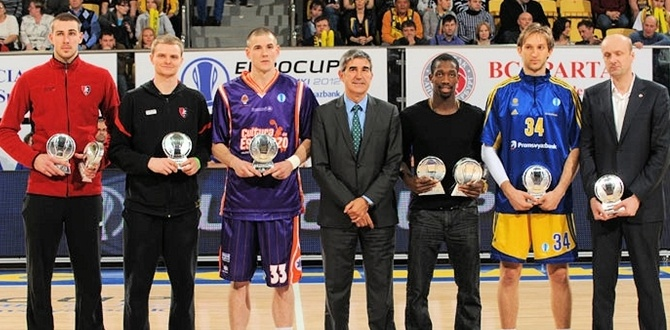 All-Eurocup First Team players recieve trophies