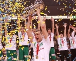 Zalgiris Kaunas is 2012 Baltic League champion (Photo zalgiris.lt)