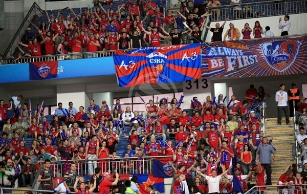 CSKA Moscow fans - Final Four Istanbul 2012