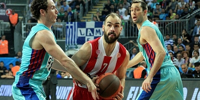 Olympiacos edges Barca for place in the final