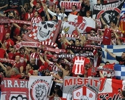 Olympiacos fans at the 2012 Final Four