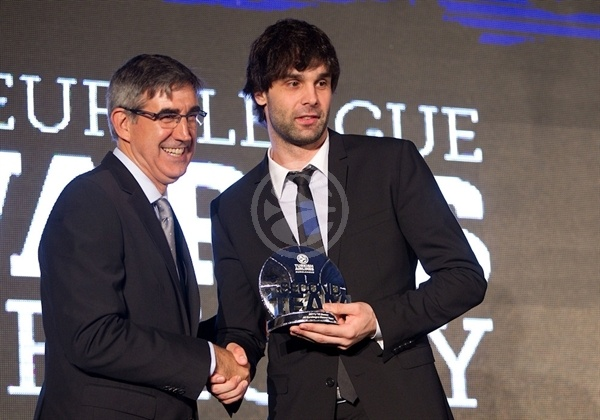 Milos Teodosic - All-Euroleague Second Team - Efes Euroleague Awards - Final Four Istanbul 2012