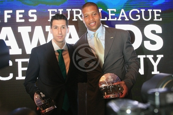 Dimitris Diamantis and Mike Batiste - Panathinaikos - Efes Euroleague Awards - Final Four Istanbul 2012