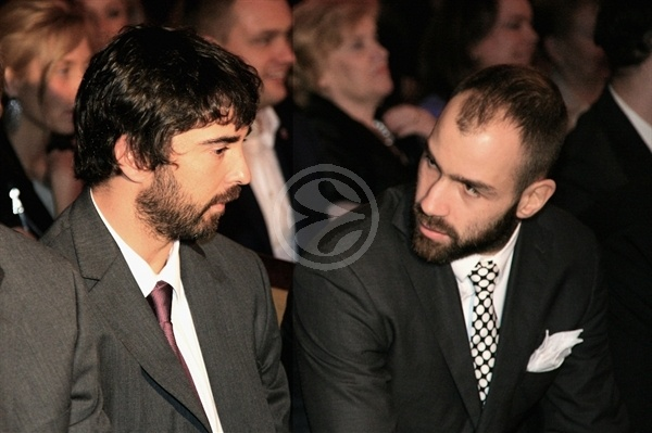 Juan Carlos Navarro and Vassilis Spanoulis - Efes Euroleague Awards - Final Four Istanbul 2012