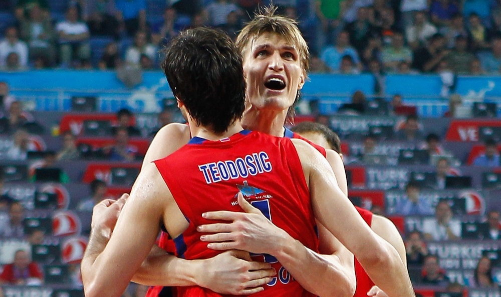 Andrei Kirilenko and Milos Teodosic celebrates - CSKA Moscow - Final Four Istanbul 2012