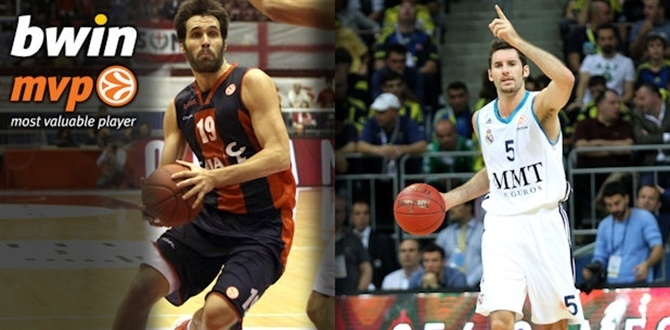 Week 3 bwin co-MVPs: Rudy Fernandez, Real Madrid and Fernando San Emeterio, Caja Laboral Vitoria