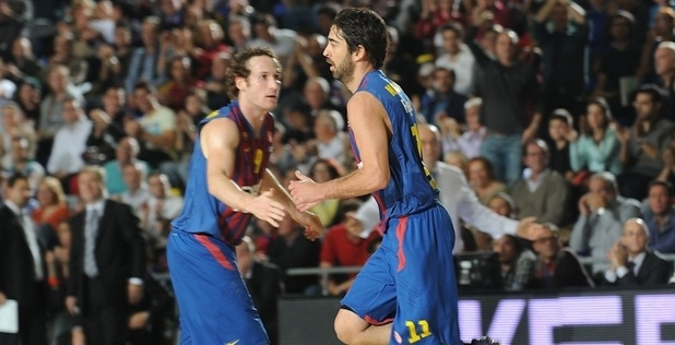 Marcelinho Huertas and Juan Carlos Navarro - FC Barcelona Regal - EB12
